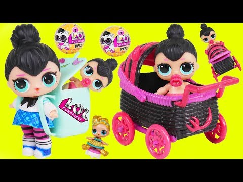 Spice Baby Custom Big LOL Surprise Dolls Strollers + Lil Sisters 5 Layers - Giant Toy Wave 2 Video