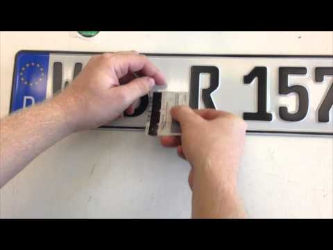 How To Apply Seals To Your Custom European License Plate