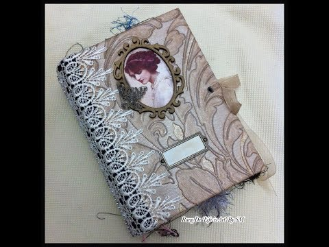 Design Team (DT) Project: TsunamiRose Designs: Handmade Jane Austen/vintage Junk journal flipthrough
