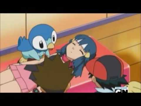Pokémon pearl shinning song ash and dawn kissing u