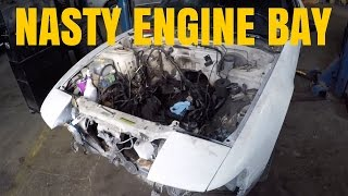 240SX Drift Car KA-T Build P3 | Engine Bay Clean Up