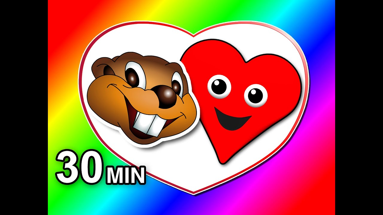i love you valentines day special childrens love song learn shapes colors kids rhymes youtube