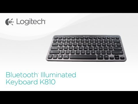 Logitech Bluetooth Illuminated Keyboard K810 Youtube