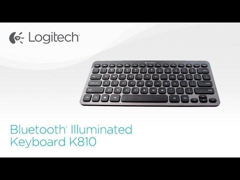 Logitech Bluetooth Illuminated Keyboard K810 Youtube