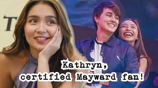 Kathryn, isang Mayward fan! Inamin na kinikilig siya kina Maymay at Edward!