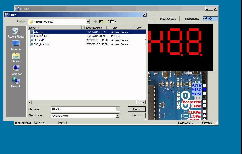 Simulator for arduino v e timer interrupts serial