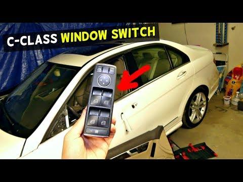 HOW TO REPLACE WINDOW SWITCH ON MERCEDES W204 C180 C200 C220 C250 C300 C350 C260 C280