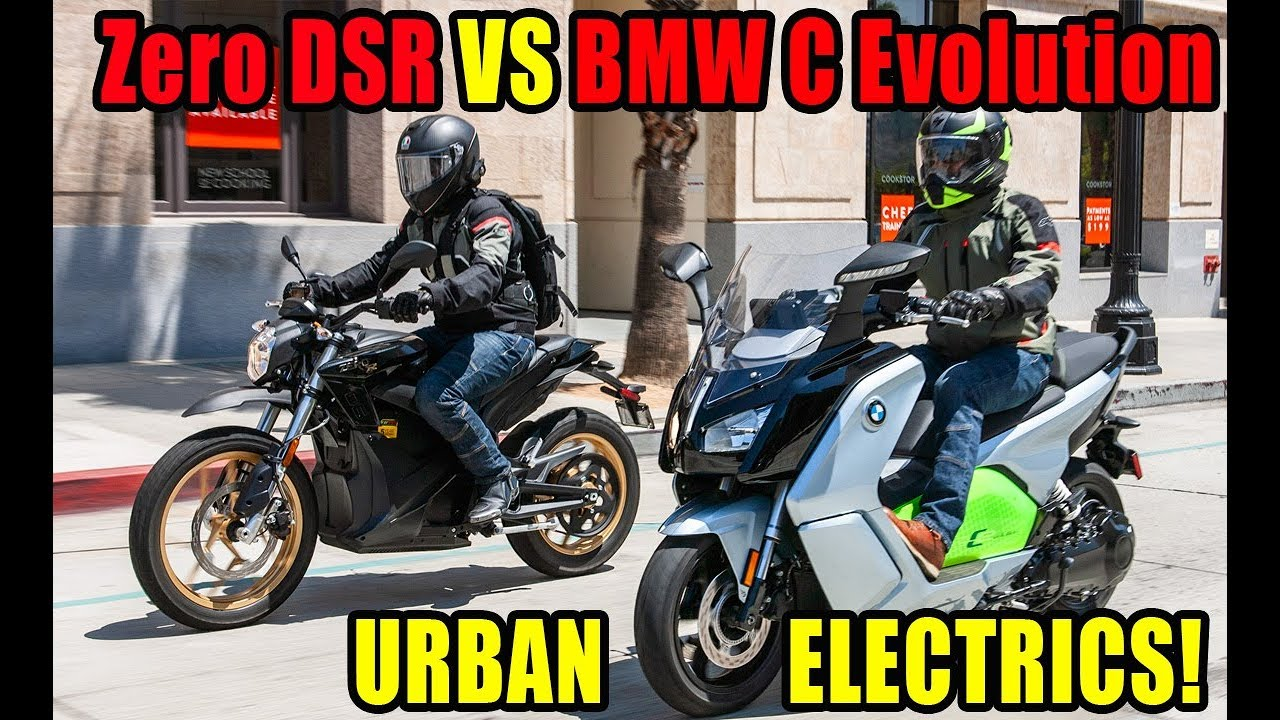 Urban Electric Motorcycles Bmw C Evolution Scooter And Zero Dsr
