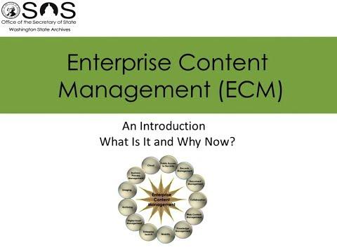 Enterprise Content Management (ECM) – An Introduction