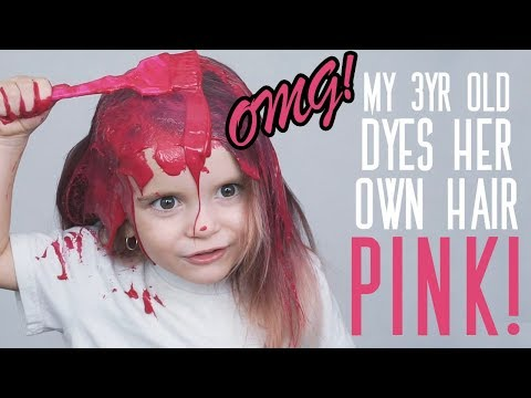 MY 3 YR OLD DYES HER OWN HAIR!! | What could possibly go wrong?