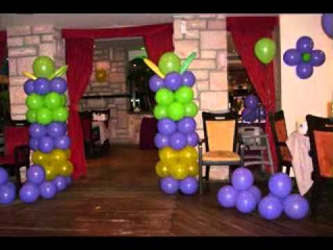 Diy balloon decoration for birthday party youtube for Balloon decoration ideas diy