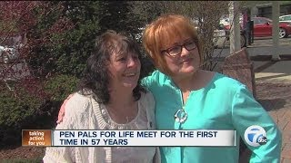 Pen pals for life meet for first time in 57 years