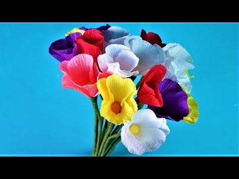 Easy Making Paper Flowers   Paper Flower Decorations   Crafty Paper Flower Room   DIY Paper Flowers