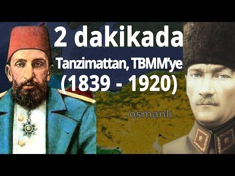 2 dakikada Tanzimat'tan, TBMM'nin kuruluşuna (1839-1920)