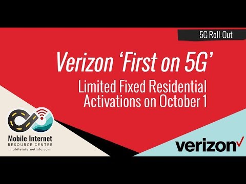 """Verizon Races to be """"First On 5G"""" – Limited Fixed Residential Network Rollout on October 1st"""