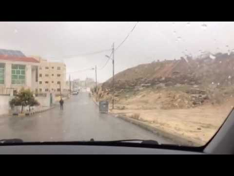 abu nsair - amman - jordan - snow - strong wind - Snow mixture with water - 27-1-2017