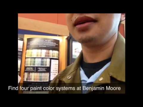 4 paint color systems at the Benjamin Moore Store