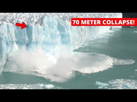 Giant +70M Iceberg BREAKING OFF Glacier | Glacier Wall Collapse