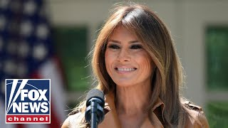 Live: Melania Trump speaks at a Toys for Tots event