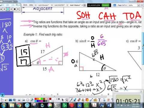 9 1 Basic Right Triangle Trig