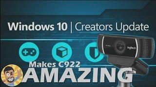 How the Windows10 Creators Update makes your webcam Amazing: Logitech C922