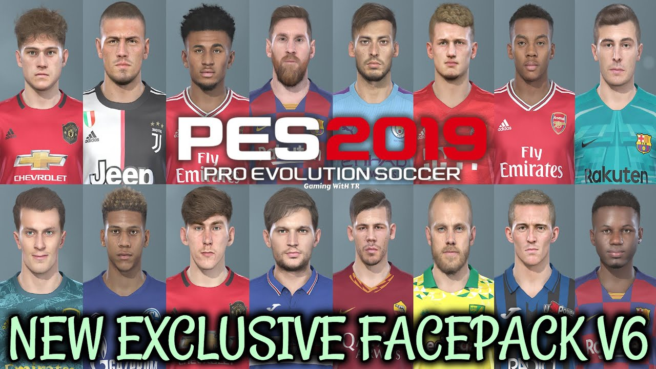 Pes 2019 New Exclusive Facepack V6 Download Install Youtube