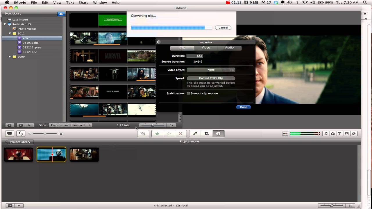 how to add effects to videos on imovie