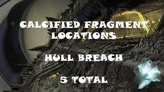 Calcified Fragment Locations - Hull Breach