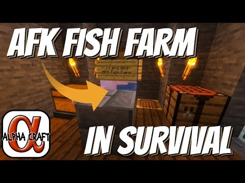 How to Make an AFK Fish Farm in Survival: EASY AFK Fish Farm on AlphaCraft for JJ & Wild (Avomance)
