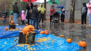 Watch these kids rage on their pumpkins at Pumpkin Smash 2014