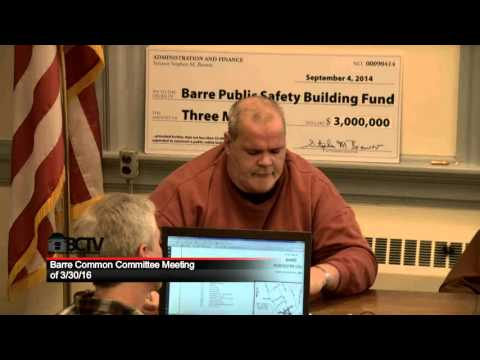 Barre Common Committee Meeting 3/30/16