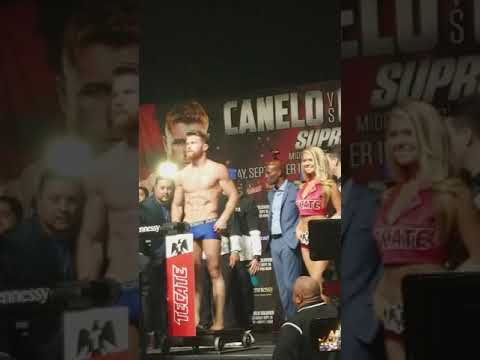 Canelo cheated!He didn't make weight!No announcement on the scale!