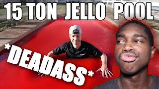 World's LARGEST JELLO POOL- Can you swim? | Mark Rober REACTION