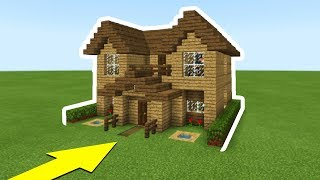 """Minecraft Tutorial: How To Make The Ultimate Wooden Starter House """"Everything you need to survive"""""""