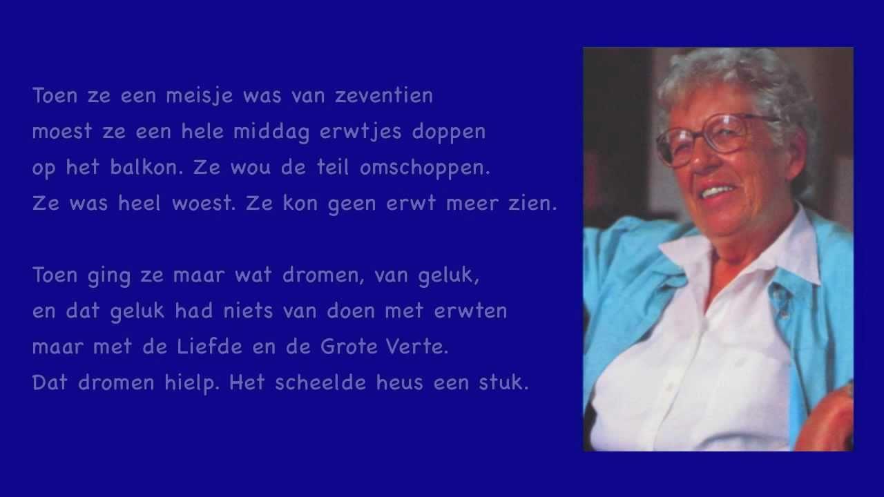Geliefde Annie M.G. Schmidt - gedicht - Erwtjes - YouTube @ER09