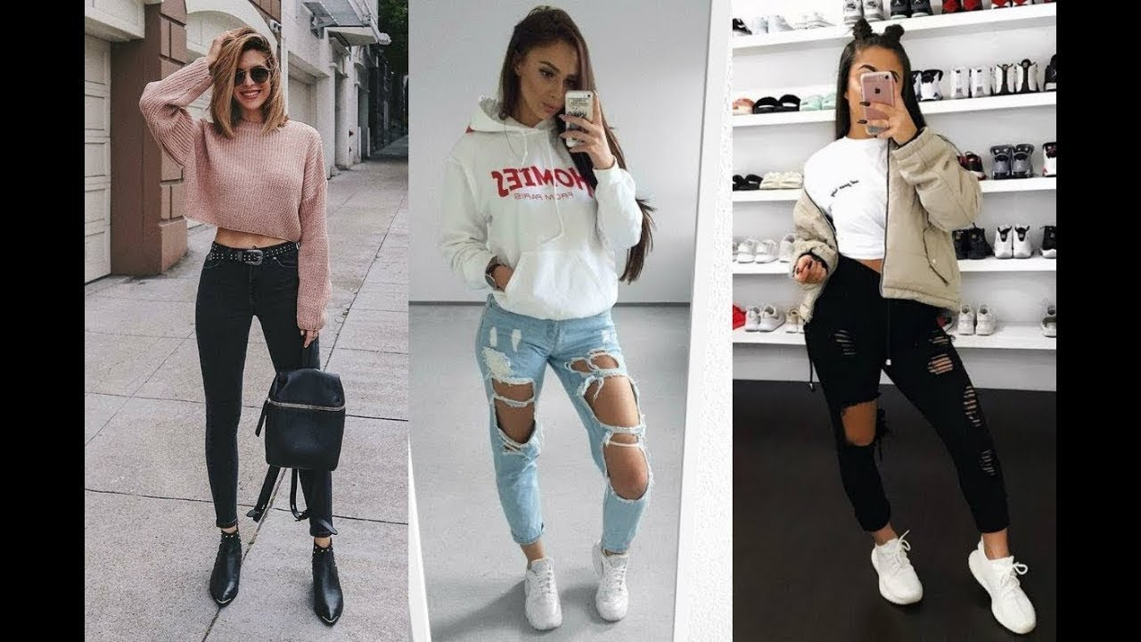 [VIDEO] - OUTFITS CON JEANS QUE TODA CHICA TIENE QUE PROBAR / CHICAS TUMBLR 1