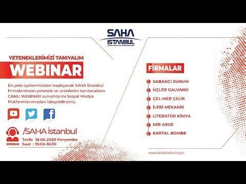 SAHA İstanbul Malzeme ve Malzeme Şekillendirme Komitesi 18.06.20 Canlı Yayını