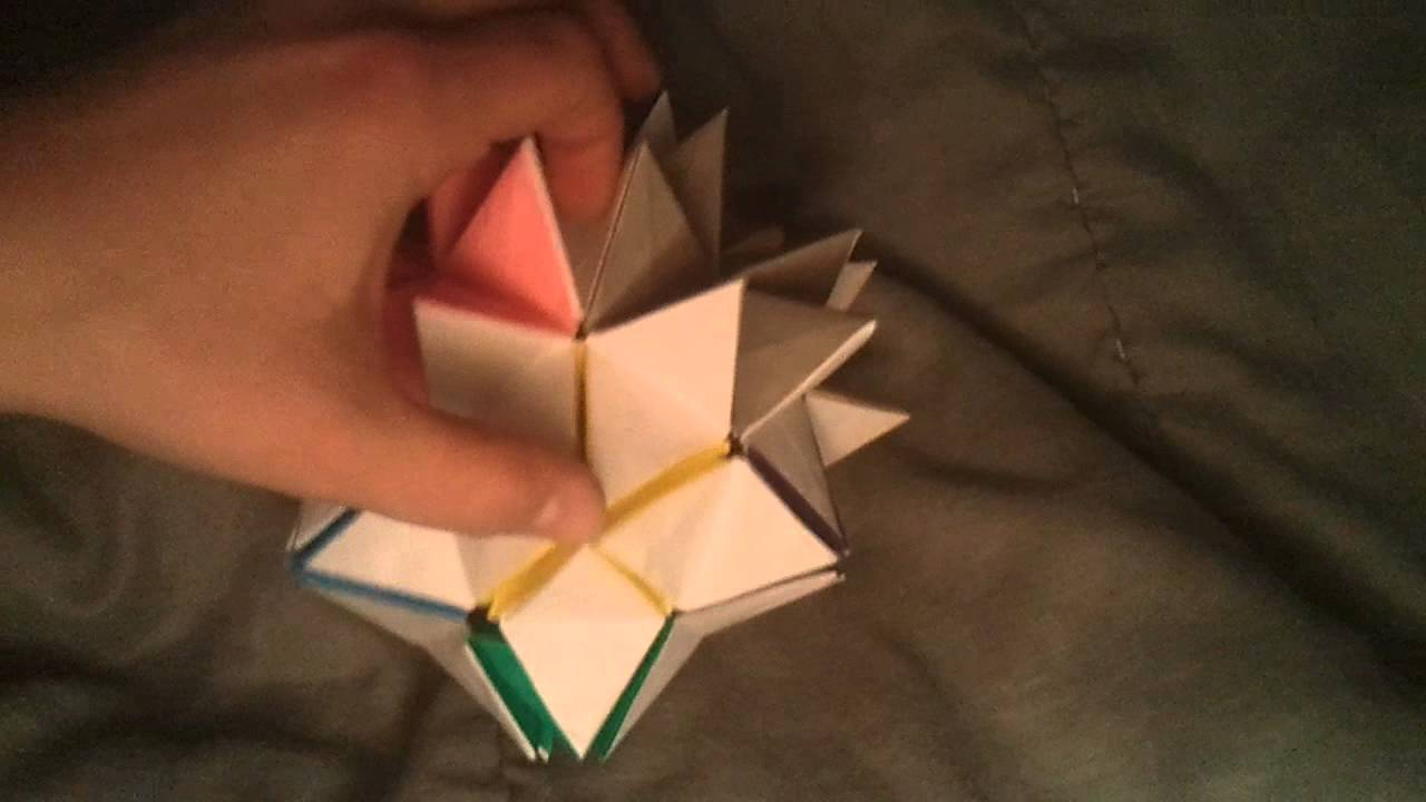Origami Revealed Flower Pop Up Star Youtube