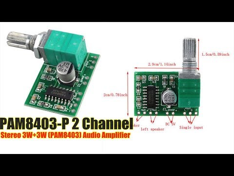 Super Mini Stereo Amplifier Pam8403 | - YouTube