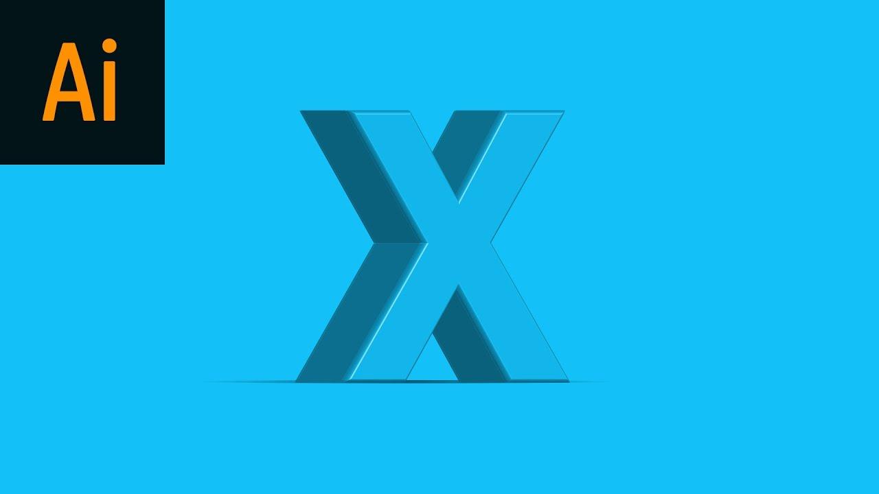 Design 3D Text Illustrator Tutorial