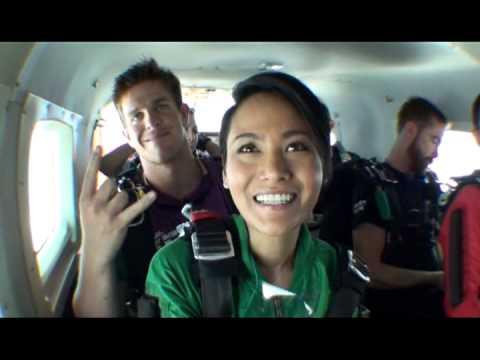 Skydive Spaceland - Kathy's First Tandem Skydive!!