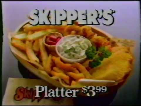 Skipper's Seafood Restaurant Commercial 1985