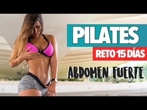 PILATES RETO 15 DÍAS abdomen fuerte y plano   Pilate 15 Day Challenge