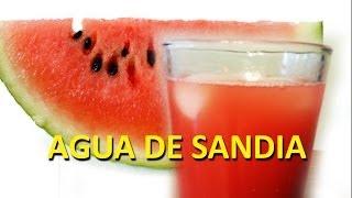 Como Hacer Agua Fresca De Sandia!