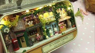 Tiny world inside a tin box- CuteRoom- assembly- DIY- Dollhouse miniature