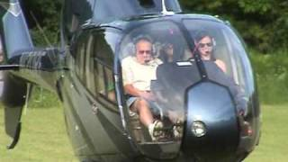 Kohlea (a.k.a. Colee or Nicole) arrives at her Graduation Party in a Eurocopter EC120