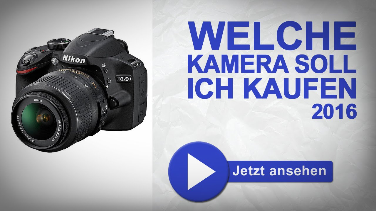 welche kamera soll ich kaufen 2016 die bew hrte dslr kaufberatung canon nikon sony youtube. Black Bedroom Furniture Sets. Home Design Ideas