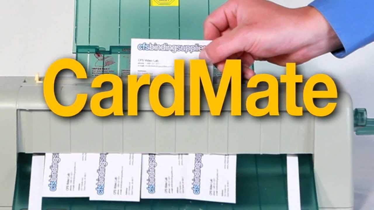 How to use the CardMate Business Card Slitter - YouTube