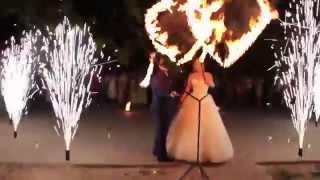 Огненно-пиротехническое, свадебное шоу 2015 | ТРИО | Фаер шоу Одесса, Арт-студия AERIAL