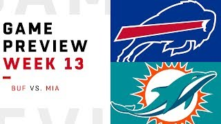 Buffalo Bills vs. Miami Dolphins | Week 13 Game Preview | Pro Football Focus